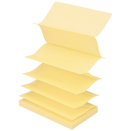 Post-it Z Notes, 76x127mm, Canary Yellow, Pack of 12 x 100 Notes