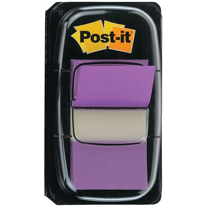 Post-it Index Flags, Purple, Pack of 12 x 50