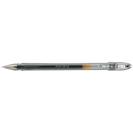 Pilot G-107 Gel Ink Pen / Ergonomic Grips / Black- Pack of 12