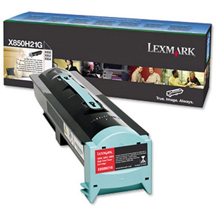 Lexmark X850H21G Black Laser Toner Cartridge
