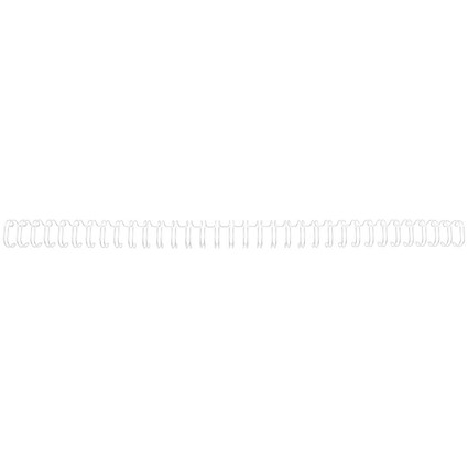 GBC Binding Wire Elements / 34 Loop / 6mm / White / Pack of 100