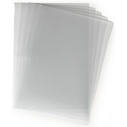 Durable PVC Report Covers, Clear, A3 Folds to A4, Pack of 50