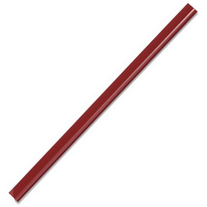 Durable Spinebar, 6mm, Up to 60 A4 Sheets, Red, Pack of 50