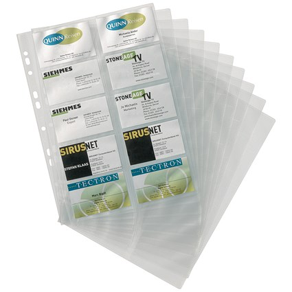 Durable Visifix Refill Set for A4 Business Card Album - Capacity: 200 57x90mm Cards