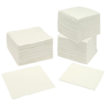 Large 2-Ply Napkins, 400x400mm, White, Pack of 250