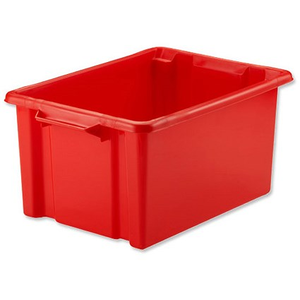 Strata Storemaster Maxi Crate, 32 Litre, Red