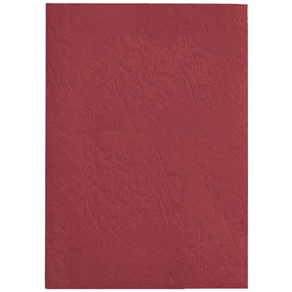 GBC Antelope Binding Covers / 250gsm / A4 / Leathergrain / Red / Pack of 100