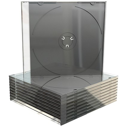 Slimline Jewel CD Case for 1 Disk, Clear, Pack of 50