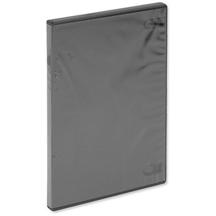 Slimline DVD Case, Black, Pack of 5