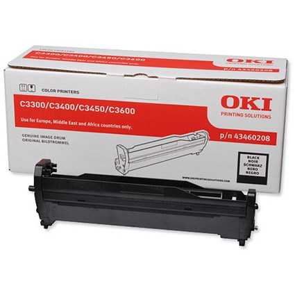 Oki 43460208 Black Laser Drum Unit