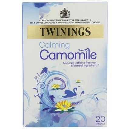 Twinings Infusion Camomile Tea Bags / Individually-wrapped / Pack of 20