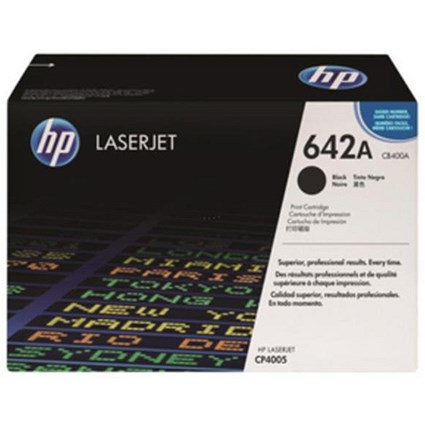 HP 642A Black Laser Toner Cartridge