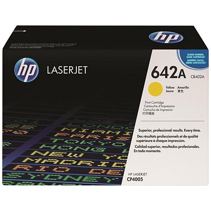 HP 642A Yellow Laser Toner Cartridge