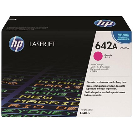 HP 642A Magenta Laser Toner Cartridge