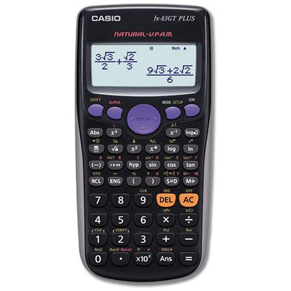 Casio Scientific Calculator / Continuous Display / 260 Functions / Black