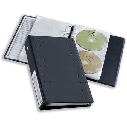 Durable CD & DVD Pocket for Index 20 Ring Binder - Pack of 5