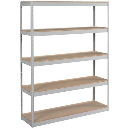 Influx Archive Shelving Unit, Extra Wide, 5 Shelves, 1500mm Wide