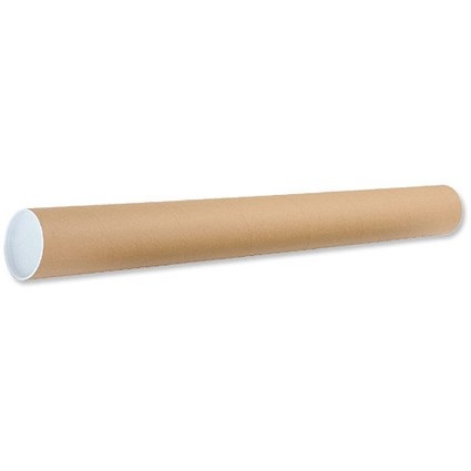 Cardboard Postal Tube with Plastic End Caps / L970xDia.102mm / Pack of 12