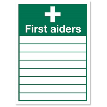 Stewart Superior Sign First Aiders W355xH255mm Self-adhesive Vinyl