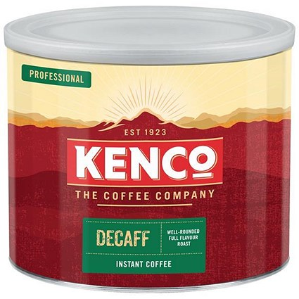 Kenco Decaffeinated Instant Coffee - 500g Tin