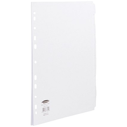 Concord Subject Dividers / Extra Wide / 10-Part / A4 / White