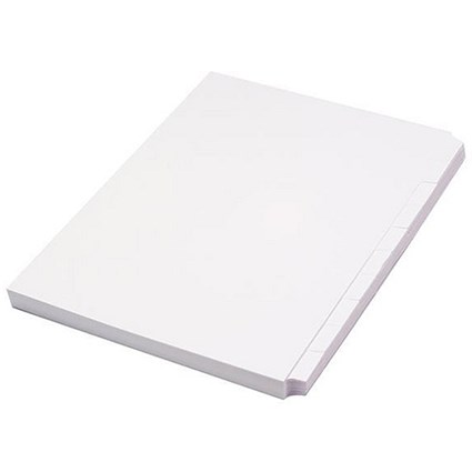 Concord Subject Dividers / Unpunched / 10-Part / A4 / White / Pack of 10