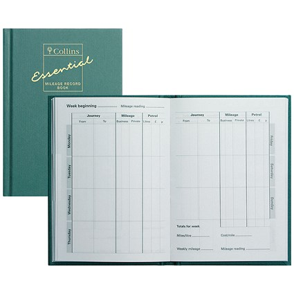 Collins Mileage Record Book - 60 Pages