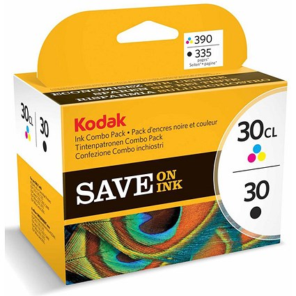 Kodak 30 Series Black and Colour Inkjet Cartridges (2 Cartridges)