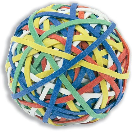 5 Star Rubber Band Ball of 200 Bands - Assorted