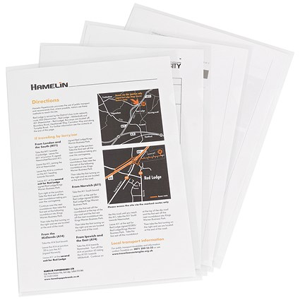 Elba Cut Flush Folders / A4 / Pack of 100