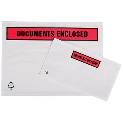 Packing List Envelopes / A7 / Documents Enclosed / Pack of 250