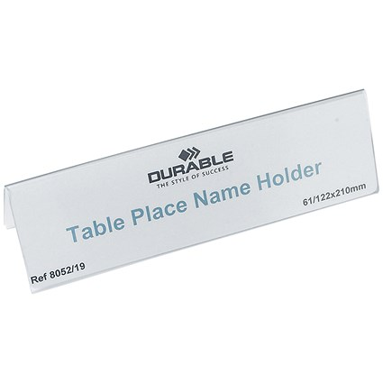 Durable Table Place Name Holders / 61x210mm / Pack of 25
