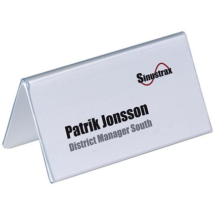 Durable Inserts for Duraprint Table Place Name Holders / 52x100mm / Pack of 40