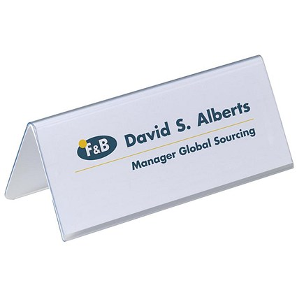 Durable Inserts for Duraprint Table Place Name Holders / 63x150mm / Pack of 40
