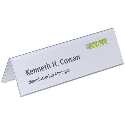 Durable Inserts for Duraprint Table Place Name Holders, 61x210mm, Pack of 20