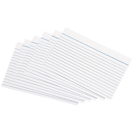5 Star Record Cards / Ruled Both Sides / 152x102mm / White / Pack of 100