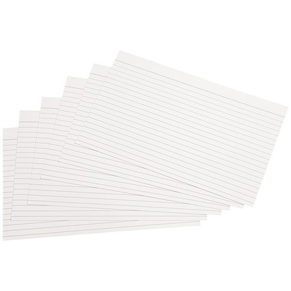 5 Star Record Cards / Ruled Both Sides / 203x127mm / White / Pack of 100