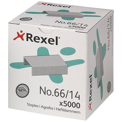 Rexel 66 Staples (14mm) - Pack of 5000