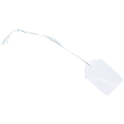 Strung Tags / 46x30mm / White / Pack of 1000