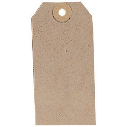 Unstrung Tags, 108x54mm, Buff, Pack of 1000