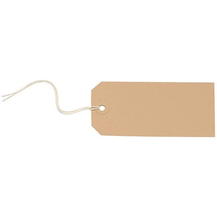 Strung Tags, 120x60mm, Buff, Pack of 1000