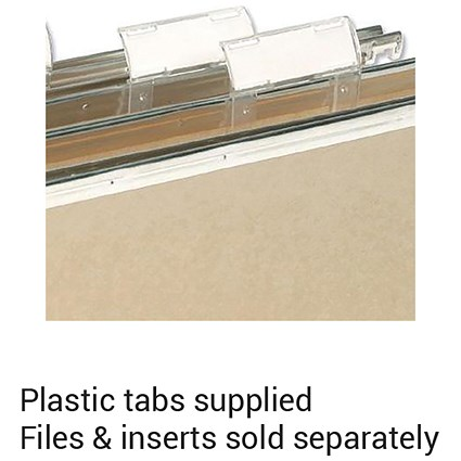 Elba VerticFiles Suspension File Tabs / Clear / Pack of 50