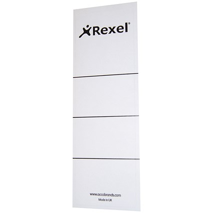 Rexel Replacement Spine Labels, 60x191mm, 29300EAST, Pack of 100