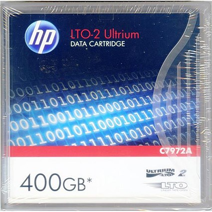 Hewlett Packard (HP) LTO-2 Ultrium Data Tape Cartridge / 400GB / 609m