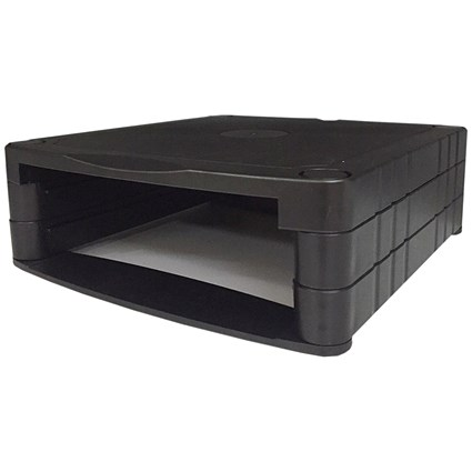 Monitor Screen Riser, Stackable, Black