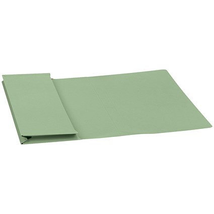 5 Star Document Wallets Full Flap / 315gsm / Foolscap / Green / Pack of 50