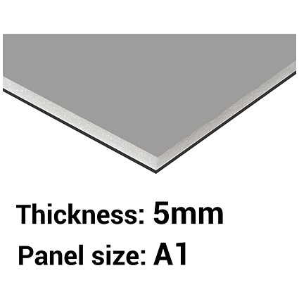 Foamboard / A1 / Black & Grey / 5mm Thick / Box of 10