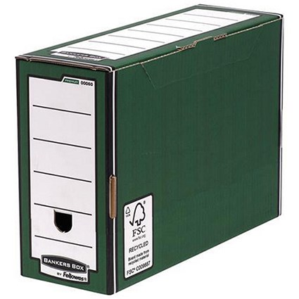 Fellowes Bankers Box Premium Transfer Files / Green & White / Pack of 10