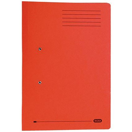 Elba Stratford Pocket Transfer Files / 320gsm / Foolscap / Red / Pack of 25