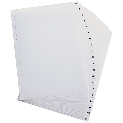 Elba Plastic Index Dividers / A-Z / A4 / White